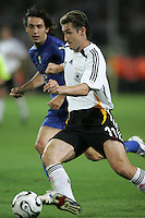 Miroslav Klose.  Italy defeated Germany, 2-0, in overtime in their FIFA World Cup semifinal match at FIFA World Cup Stadium in Dortmund, Germany, July 4, 2006.