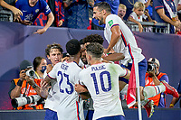 5th September 2021; Nashville, TN, USA;  United States forward Brenden Aaronson celebrates with teammates after scoring a goal during a CONCACAF World Cup qualifying match between the United States and Canada on September 5, 2021 at Nissan Stadium in Nashville, TN.
