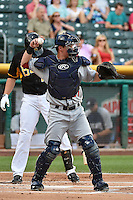 Blake Lalli (21) of the Reno Aces during the game against the Salt Lake Bees in Pacific Coast League action at Smith's Ballpark on July 23, 2014 in Salt Lake City, Utah.  (Stephen Smith/Four Seam Images)