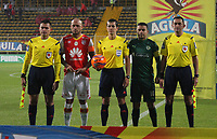 BOGOTA -COLOMBIA, 10-05-2017.Andres rojas central referee. Action game between Equidad and Independiente Santa Fe  during match for the date 17 of the Aguila League I 2017 played at Metropolitano de Techo  stadium . Photo:VizzorImage / Felipe Caicedo  / Staff