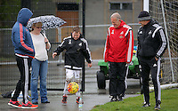 Pictured: Lee Trundle (L), Alan Curtis (4th L) and caretaker manager Francesco Guidolin Wednesday 11 May 2016<br />Re: Swansea City FC training at the club's Fairwood Training Ground in the outskirts of Swansea, south Wales, UK.