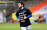 Dundee United v St Johnstone…..01.08.20   Tannadice  SPFL<br />Craig Conway wearing a Show Racism The Red Card T-Shirt during warm-up<br />Picture by Graeme Hart.<br />Copyright Perthshire Picture Agency<br />Tel: 01738 623350  Mobile: 07990 594431
