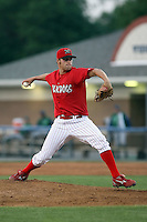 June 23rd 2008:  Pitcher Jameson Maj (26) of the Batavia Muckdogs, Class-affiliate of the St. Louis Cardinals, during a game at Dwyer Stadium in Batavia, NY.  Photo by:  Mike Janes/Four Seam Images
