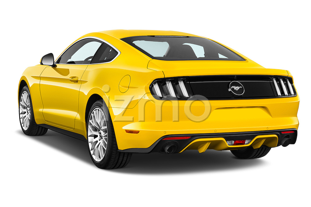 Car pictures of rear three quarter view of 2016 Ford Mustang EcoBoost 2 Door Coupe Angular Rear