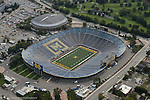 Michigan Stadium and Crisler Arena. Aerial photos taken from the Goodyear Blimp over Ann Arbor, Mich. on Friday, September 26, 2003. (TONY DING/Daily)