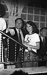 CARLO VERDONE CON  NATASHA HOVEY<br /> FESTA GHOSTBUSTERS  - HYSTERIA CLUB ROMA 1987