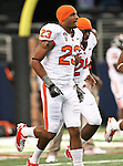 Oregon State Beavers wide receiver Jordan Bishop #23 warming up before the game between the  Oregon State Beavers and the TCU Horned Frogs at the Cowboy Stadium in Arlington,Texas. TCU defeated Oregon State 30-21.