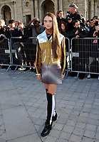 Octber 3 2017, PARIS FRANCE the Louis Vuitton Show at the Paris Fashion Week<br /> Spring Summer 2017/2018. Actress Raffey Cassidy arrives at the show.