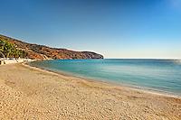 Gialia beach near Stenies village in Andros island, Greece