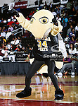 The Alabama State Hornets mascot in action during the SWAC Championship game between the Alabama State Hornets and the Grambling State Tigers at the Special Events Center in Garland, Texas. Alabama State defeats Grambling State 65 to 48.