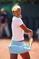16-8-06,Amsterdam, tennis , NK,  Quarter final match, Kelly de Beer