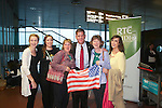 """With Compliments      Free Pics<br /> Boston Mayor Marty Walsh is welcomed to Shannon Airport this morning this morning by locals of Callowfeenish, Carna, Galway ( Brid Mulkerrin, Irene Flaherty, Maureen Flaherty, Cathy Mulkerrin and Mary Ellen Flaherty.<br /> Cathaoirligh and Irish mayors plus US multi-national business representatives among those to welcome Mayor back to Shannon<br /> Friday, 19 September 2014:  Ties between the West of Ireland and the Boston area deepened today as the newly elected Mayor of the most Irish city in the US, Marty Walsh, began his Irish 'homecoming' with a business breakfast – his first official engagement on his visit - at Shannon Airport.<br /> Hosted by the Shannon Group plc, the event was attended by over 125 people drawn from the business community, among them representatives of leading US multi-nationals with operations across the West and South of Ireland, Cathaoirligh and Mayors from several counties as well as members of Mayor Walsh's extended family, including his mother Mary, and friends from Connemara.<br /> Welcoming Mayor Walsh to Shannon Airport, Group Chairman Rose Hynes said that his visit - his first international trip since being sworn in last January – will only serve to strengthen links between the Boston/Massachusetts region and the West of Ireland . The importance of these links is signified by the presence in Shannon of the first citizens of so many counties and cities in Ireland. They are here to represent the people of these counties and cities, all of which have strong connections with the Boston area.<br /> """"Mayor Walsh's election as the first Irish American Mayor of Boston in 20 years is a great honour for all Irish people and in particular for the West of Ireland.  Just six decades after his father John and mother Mary emigrated from Carna and Ros Muc respectively, he climbed, to the highest office in the most Irish of US cities,"""" the Shannon Group Chairman said.<br /> """"His arrival here today and the att"""