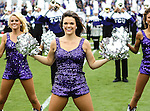 TCU Horned Frogs cheerleaders in action during the game between the Iowa State Cyclones and the TCU Horned Frogs  at the Amon G. Carter Stadium in Fort Worth, Texas. Iowa State defeats TCU 37 to 23..