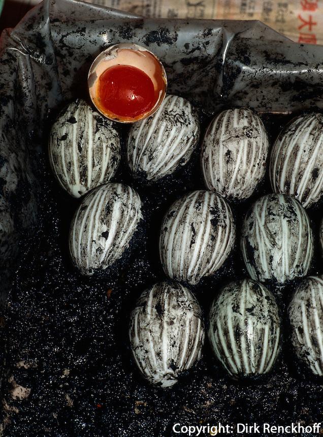 China, Macao, konservierte Eier