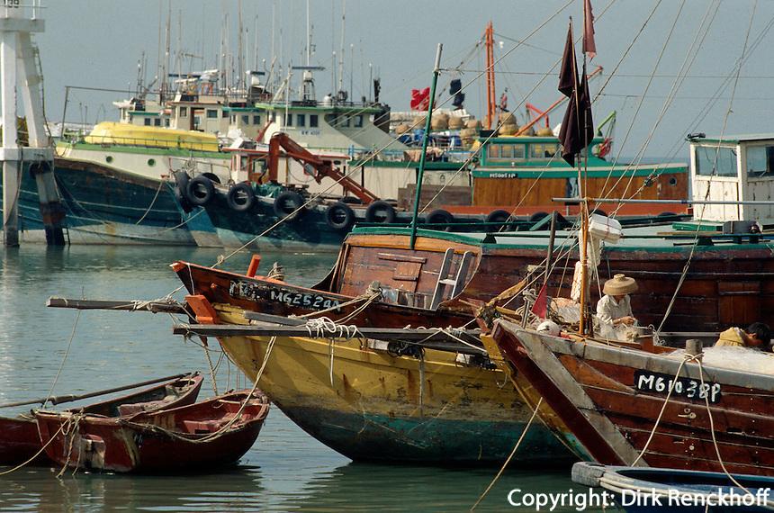 China, Hongkong-Lantau, Fischerboote in Tai O