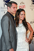 BEVERLY HILLS, CA, USA - OCTOBER 14: Scott Sveslosky, Danica McKellar arrive at the 20th Annual Fulfillment Fund Stars Benefit Gala held at The Beverly Hilton Hotel on October 14, 2014 in Beverly Hills, California, United States. (Photo by David Acosta/Celebrity Monitor)