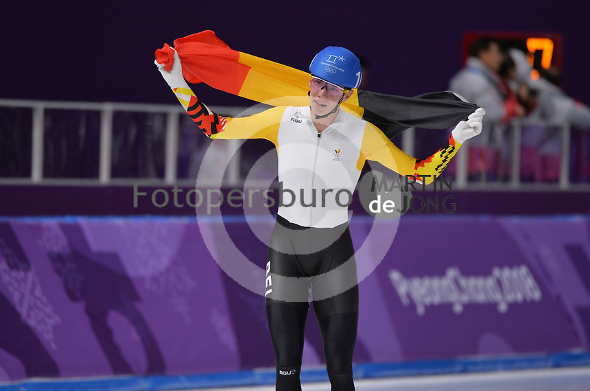 OLYMPIC GAMES: PYEONGCHANG: 24-02-2018, Gangneung Oval, Long Track, Mass Start Men, Bart Swings (BEL), ©photo Martin de Jong