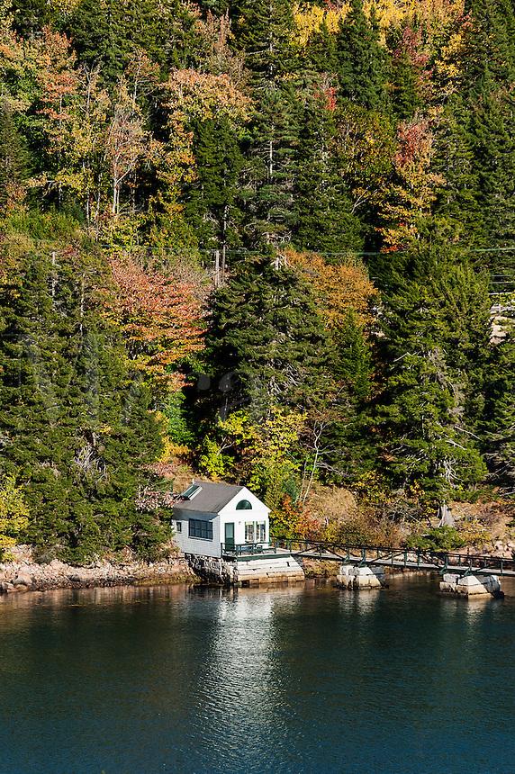 Waterfront cottage, Northeast Harbor, Mount Desert Island, Maine, USA