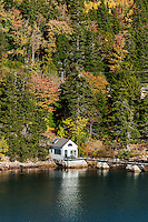 Waterfront cottage, Northeast Harbor, Mount Desert Island, Maine, USA