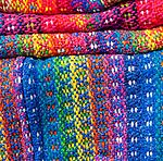 Colorful woven fabric, Castro, Chiloe Island, Chile, Patagonia, South America