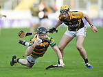 Graham Callanan of Glen Rovers in action against Niall Deasy of Ballyea during their Munster Club hurling final at Thurles. Photograph by John Kelly.