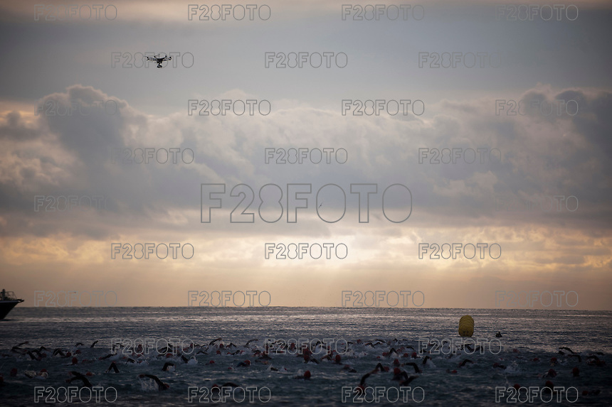 VALENCIA, SPAIN - OCTOBER 24: Athlete during Pure 226 Ironman Marina D'Or Triathlon 2015 on October 24, 2015 in Marina D'Or , Spain