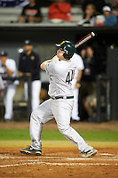 Siena Saints pinch hitter Nico Ramos (44) hits a home run during a game against the UCF Knights on February 17, 2017 at UCF Baseball Complex in Orlando, Florida.  UCF defeated Siena 17-6.  (Mike Janes/Four Seam Images)