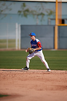 Nate Smolinski (12) of The Bishop's School in La Jolla, California during the Baseball Factory All-America Pre-Season Tournament, powered by Under Armour, on January 13, 2018 at Sloan Park Complex in Mesa, Arizona.  (Mike Janes/Four Seam Images)