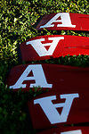 The oars of a boat lie in the grass during the 68th Dad Vail Regatta on the Schuylkill River in Philadelphia, Pennsylvania on May 12, 2006........