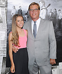 Aaron Sorkin and Roxy<br />  at The Season 2 Premiere of The HBO Series The Newsroom held at Paramount Studios in Los Angeles, California on July 10,2013                                                                   Copyright 2013 Hollywood Press Agency