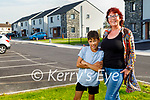 Tina Lonergan with her son Zion Uduojie at their new home in the new An Carraig estate in Connolly Park.