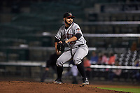 Quad Cities River Bandits relief pitcher Humberto Castellanos (29) during a Midwest League game against the Fort Wayne TinCaps at Parkview Field on May 3, 2019 in Fort Wayne, Indiana. Quad Cities defeated Fort Wayne 4-3. (Zachary Lucy/Four Seam Images)
