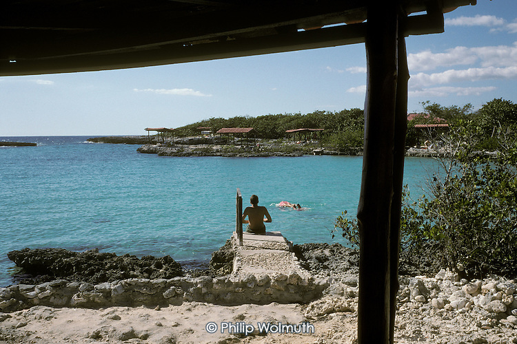 The beach resort of Caleta Buena, on the south coast close to Playa Giron (The Bay of Pigs).