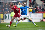 St Johnstone v AberdeenÖ23.02.19Ö  McDiarmid Park    SPFL<br /> Chris Kane and Dom Ball<br /> Picture by Graeme Hart. <br /> Copyright Perthshire Picture Agency<br /> Tel: 01738 623350  Mobile: 07990 594431
