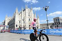 30th May 2021; 104th Giro d Italia 2021, 21st stage Senago to Milan, Italy;  Winner Egan Bernal COL, crosses the finish line and Wins the 104th Giro d Italia