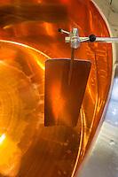 Europe/France/Franche-Comté/25/Doubs/Labergement-Sainte-Marie: Fruitière des Deux Lacs - Cuve en cuivre pour la Préparation du Comté // France, Doubs, Labergement Sainte Marie,  cheesemaking facility, or fruitière, Comté is an ancient cooked and pressed cheese made from raw milk