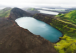 This Icelandic lake has an uncanny resemblance to the face of US President Donald Trump.  The lake is located in a volcanic crater, and was formed after lava came into contact with groundwater when the volcano erupted thousands of years ago.<br /> <br /> It is thought to have been formed around 1,200 years ago, and is 570 metres above sea level.  The Hnausapollur lake is located in Southwestern Iceland, around a three hour drive from the capital of Reykjavik, and is also known as Bláhylur, due to its turquoise blue water.  SEE OUR COPY FOR DETAILS.<br /> <br /> Please byline: Joe Shutter/Solent News<br /> <br /> © Joe Shutter/Solent News & Photo Agency<br /> UK +44 (0) 2380 458800