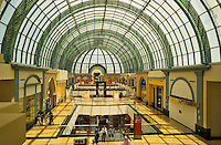 Arcade with classical arched glass roof at the Mall of the Emirates.  Dubai. United Arab Emirates.