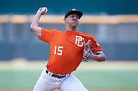 Radymir Rivera (15) of Pro Baseball High School Academy in Juana Diaz, PR during the Perfect Game National Showcase at Hoover Metropolitan Stadium on June 19, 2020 in Hoover, Alabama. (Mike Janes/Four Seam Images)