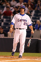 """Florida Gators Preston Tucker #25 during a game vs. the Florida State Seminoles in the """"Florida Four"""" at George M. Steinbrenner Field in Tampa, Florida;  March 1, 2011.  Florida State defeated Florida 5-3.  Photo By Mike Janes/Four Seam Images"""