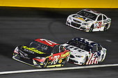 Monster Energy NASCAR Cup Series<br /> Monster Energy NASCAR All-Star Race<br /> Charlotte Motor Speedway, Concord, NC USA<br /> Saturday 20 May 2017<br /> Martin Truex Jr, Furniture Row Racing, 5-hour Energy Extra Strength Toyota Camry, Brad Keselowski, Team Penske, Miller Lite Ford Fusion and Ryan Newman, Richard Childress Racing, Caterpillar / Grainger Chevrolet SS<br /> World Copyright: Nigel Kinrade<br /> LAT Images<br /> ref: Digital Image 17CLT1nk06365