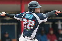 23 October 2010: Vincent Ferreira of Savigny is seen at bat during Savigny 8-7 win (in 12 innings) over Rouen, during game 3 of the French championship finals, in Rouen, France.