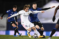 16th March 2021; Madrid, Spain; during the Champions League match, round of 16, between Real Madrid and Atalanta;  Luka Modric beats Josip Ilicic