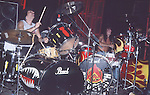 Carmine Appice & Tommy Lee of Motley Crue   at The Roxy in Hollywood Aug 1986.