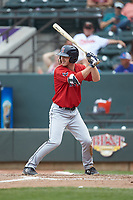 Ryan Scott (36) of the Salem Red Sox at bat against the Winston-Salem Dash at BB&T Ballpark on April 22, 2018 in Winston-Salem, North Carolina.  The Red Sox defeated the Dash 6-4 in 10 innings.  (Brian Westerholt/Four Seam Images)