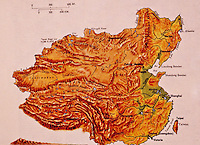 China:  Topographical Map.