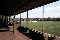 General view of Shepton Mallet FC Football Ground, Playing Fields, Old Wells Road, West Shepton, Shepton Mallet, Somerset, pictured on 27th March 1997