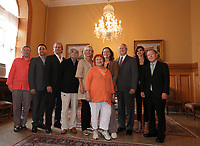 August 27 2012 - Montreal (Qc) CANADA - <br /> The jury of the 2012 World Film Festival at  Montreal City hall.<br /> (Left to right) : Andrei Plakhov,Wang Xueqi i, Michel Cote, Serge Losique, Helen Foutopoulos, Vera Belmont, , Greta Scacchi, Gerald Tremblay,, Goya Toledo,  Kim Dong Ho.<br /> <br /> <br /> The World Films Festival 35th edition run til September 2012.
