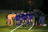 RSCA players pictured at the huddle at the start of a female soccer game between Oud Heverlee Leuven and RSC Anderlecht on the 12 th matchday of the 2020 - 2021 season of Belgian Womens Super League , sunday 31 st of January 2021  in Heverlee , Belgium . PHOTO SPORTPIX.BE | SPP | SEVIL OKTEM
