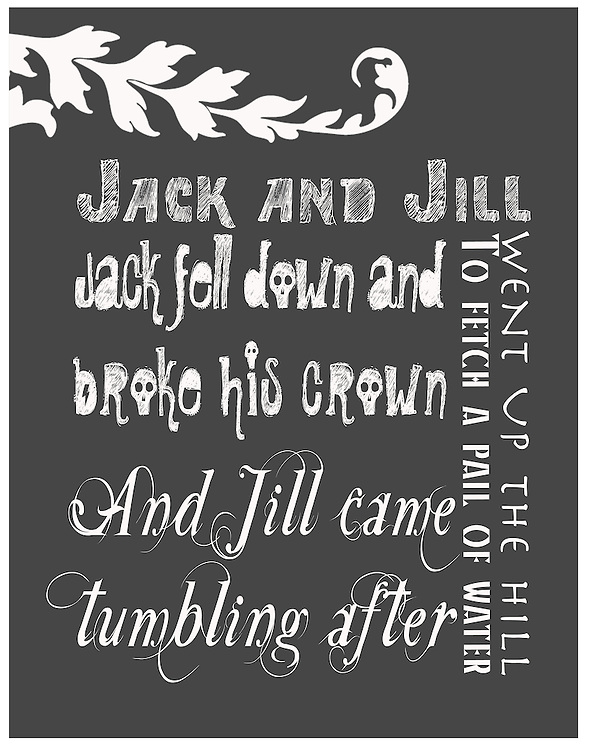 """Nursery Rhymes have been a part of many people's childhood memories. Tummy Tickles has designed these beautiful works of art to display in your child's room to give them a way to see nursery rhymes as a form of art and design. Tummy Tickles Nursery Rhyme prints will make your child's room pop and give their room personality. Prints are 11""""x14""""; for other sizes and products please visit www.tummyticklesphotos.com<br /> <br /> Print Size:<br /> <br /> 11"""" x 14"""" with matte finish"""